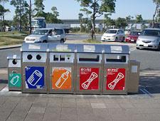 контейнеры для сбора и переработки мусора в Японии