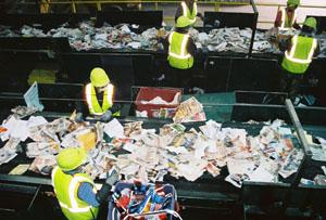 Сортировка твердого мусора