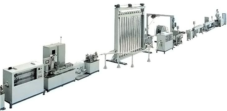 Производственная линия для изготовления полиэтиленовых труб