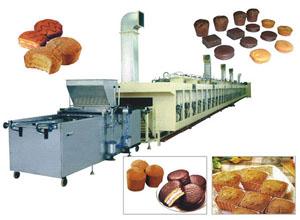 Линия по производству кексов на фото
