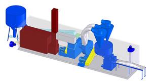 Линия по производству топливных брикетов