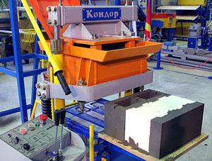 Оборудование для производства теплоблоков на фото