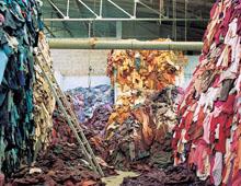 Переработка тканей и отходов  на фото