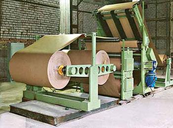 Оборудование для производства бумаги и картона на фото
