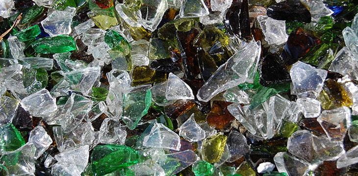 Материалы из стеклоотходов
